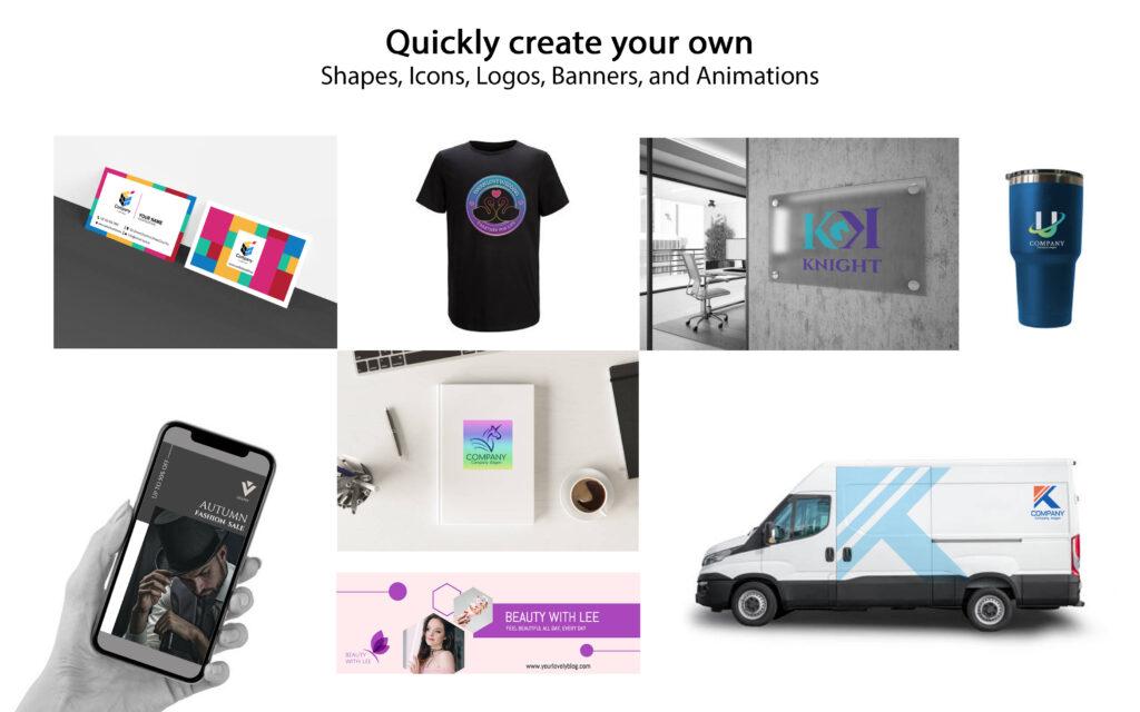 Create vector logos & animated logos|Make the brand stronger