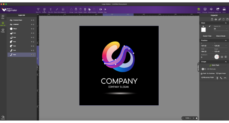 easy-to-use and fully functional logo design application and animation tool-Drawtify Logo Maker & Animator