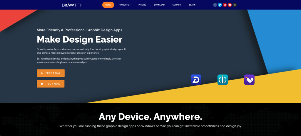 Graphic design apps provider that provides one-stop solutions for graphic design