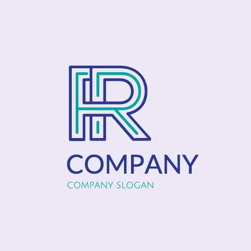 Example of the editable vector logo template