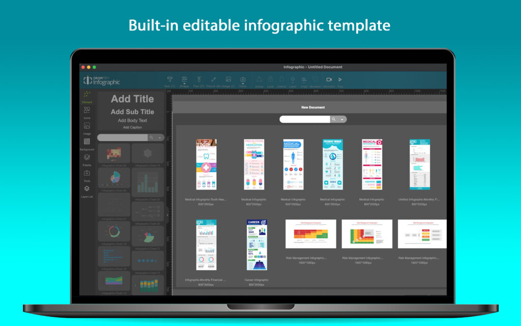 Drawtify Infographic Creator helps everyone easily create an infographic that everyone loves.